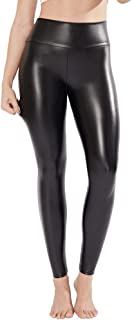 Samuel Strechy Faux Leather Leggings Women Black Sexy High Waisted Leather Pants