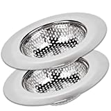 SoLID (TM) Kitchen Sink Strainer Basket Catcher 2 pack 4.5 inch Diameter, Wide Rim Perfect for Most...