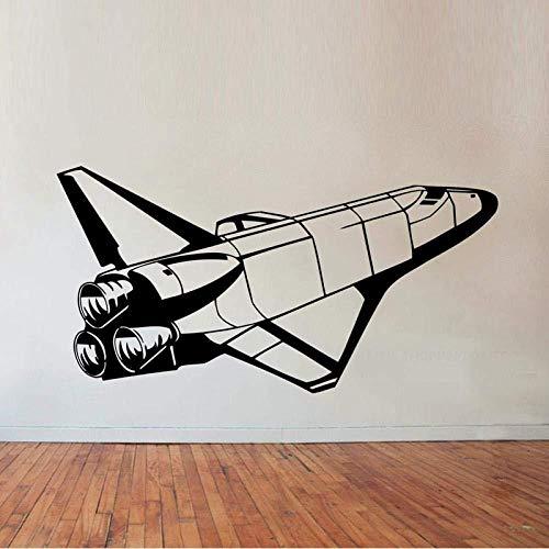Etiqueta de la pared del transbordador espacial etiqueta de la pared del vinilo del arte de la decoración del hogar de los niños dormitorio Rocket M