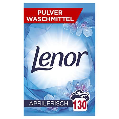 Lenor Waschmittel Pulver, Waschpulver Grosspackung, Vollwaschmittel, Lenor Aprilfrisch mit Duft von Frühlingsblumen, 130 Waschladungen (8.45 kg)