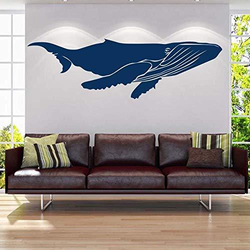 Blauwal Yoga Pavillon Schwimmbad Pvc Wohnzimmer Dekoration Wasserdicht Abnehmbare Wandaufkleber 178X55 cm