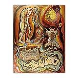 Lefgnmyi Andre Masson 《vista emblemática de Toledo》 lienzo arte pintura al óleo obra de arte póster imagen decoración de la pared decoración del hogar-24x32 en sin marco