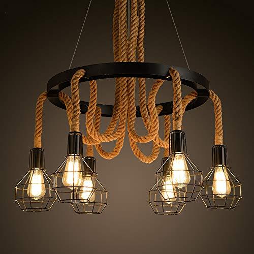 Dapai Anhänger, Kronleuchter Seil, Metallfarbe Schlinge Zusammenklappbare Deckenplatte, Eisen E27 Lampenschirm, 78 * 100cm Stil