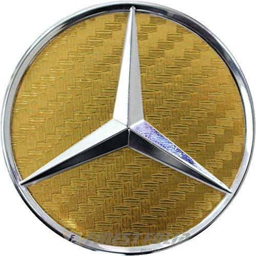 Finest-Folia Carbon Lenkrad Emblem Folie Ecken (K036 Carbon Gold)
