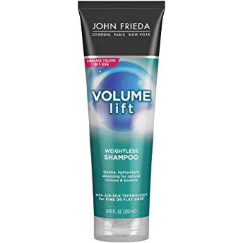 John Frieda Volume Lift Lightweight Shampoo for Natural Fullness, 8.45 Ounces, Safe for Colour-Treated Hair, Volumizing Shampoo for Fine or Flat Hair