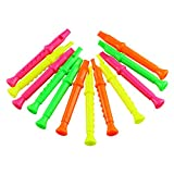 Etmact 5.5 Inches Plastic Recorders - Pack of 12 - Mixed...