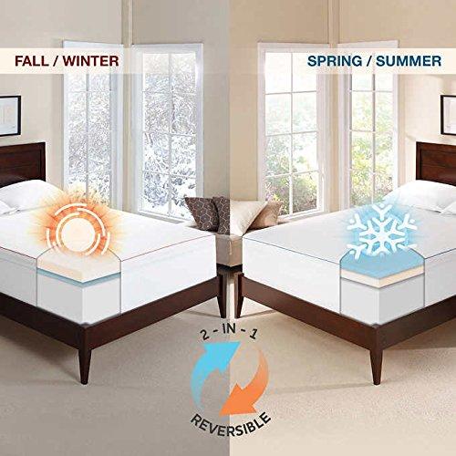 "Novaform 3"" Seasonal Memory Foam Mattress Topper - QUEEN"