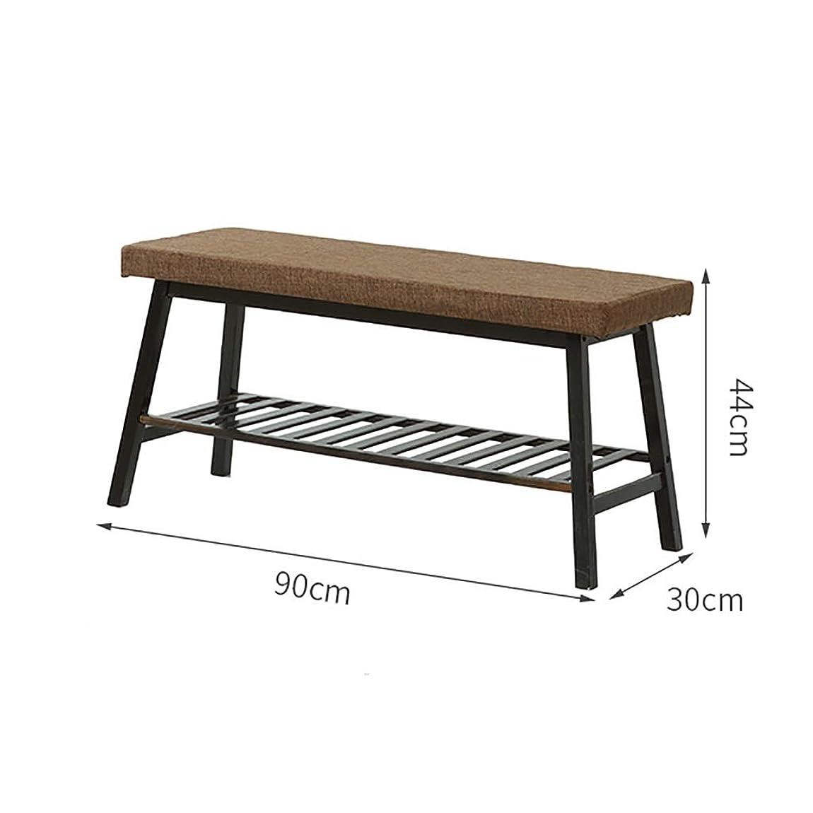 鷹かみそり加入靴のベンチを変更 - 木製の靴の綿パッド収納ラック - 入り口の廊下の靴ラック (Size : 90*30*44cm)