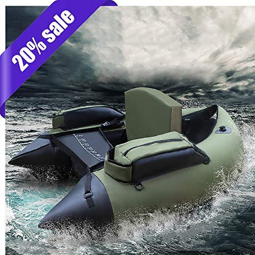 Z&HAO Professionelles Aufblasbares Fischen-Katamaran PVC-Gummiboot Für Fischen-Kajak 1 Personen-Aufblasbares Fischen-Stuhl-Einzelnes Ruderboot,Fishingboat
