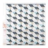 Relaxdays Duschrollo, 160x240 cm, Dreieck Muster, Seilzug, Flexible Montage, Duschvorhang für Badewanne und Fenster, bunt