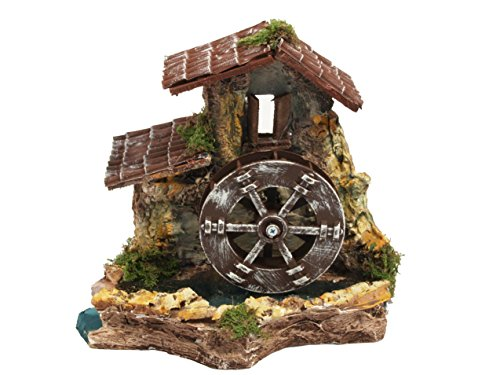 BERTONI Wassermühle aus Holz mit elektrischer Traktion, Mehrfarbig, Einheitsgröße