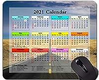 カレンダー2021年マウスパッド、道路景観自然オフィスマウスパッド