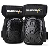 Knee Pads for Work by Thunderbolt for Construction, Flooring, Gardening, Cleaning with Gel Cushion and Anti-Slip Straps