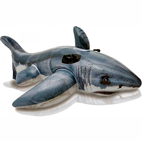Schwimmtier INTEX Weißer Hai aufblasbar 173 cm mit Griffen