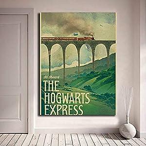 Odtis Póster de Harry Potter nuevo cartel Vintage Hogwarts Express lienzo impresiones pared arte pintura cuadro… 15