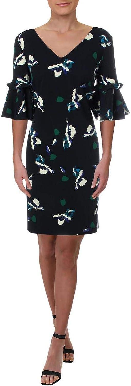 Lauren Ralph Lauren Womens Bell Sleeves Above Knee Party Dress Navy 6