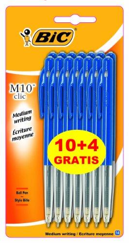 BIC M10 Original Stylos-Bille - Bleu, Blister Format Spécial de 14