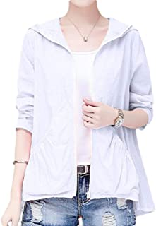 MogogoWomen Light Weight Sunscreen Hooded Breathable Top Coat Skinny Jacket