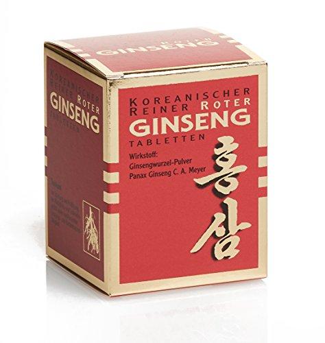 (Arzneimittel) Koreanischer Reiner Roter Ginseng - 200 Wurzelpulver Tabletten (vegan); hohe antioxidative Kapazität: ORAC-Wert von 163.000 TE/100g