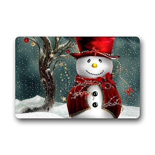 KLing Fußmatte mit Weihnachtsmotiv, rutschfest, für Badezimmer, Küche, Dekoration, 16 x 24,40 x 60 cm