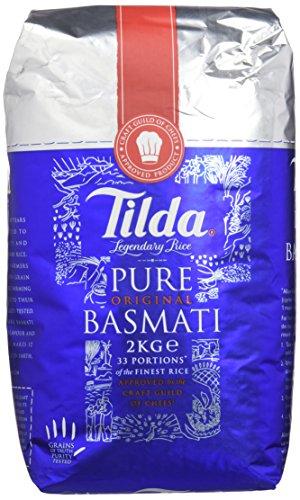 Tilda Basmati Rice - Paquete de 4 x 2000 gr - Total:...