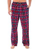 Alexander Del Rossa Men's Warm Flannel Pajama Pants, Long Cotton Pj Bottoms, XL Blue Red and Green Plaid (A0475Q19XL)