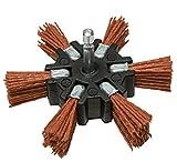 Century Drill and Tool 77341 Coarse Nylon Flap Brush, 4-Inch (80 Grit)