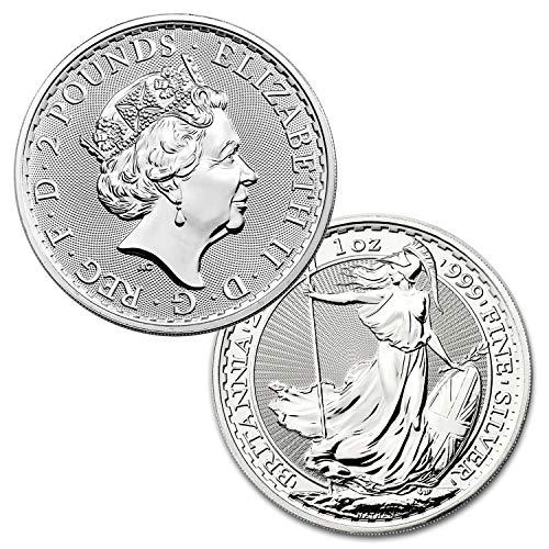 2020 Great Britain Silver Britannia £2-1 oz Five 5 Coins BU