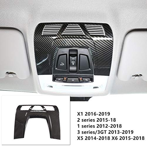 HYJYWY Autopartes Carbon Fibra Color Console CD Panel CD Frame Decoration Frame Sticker para BMW 3 4 Series 3GT F30 F32 F34 Accesorios Interior (Color Name : Readling Lamp Trim)
