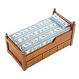 Zerodis 1:12 Miniatur Puppenhaus Bett Mini Holz Puppenhaus Möbel Prinzessin Bett Spielzeug mit...