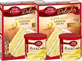 Betty Crocker Super Moist Lemon Cake Mix and Betty Crocker Rich & Creamy Lemon Frosting Bundle - (4 pack)