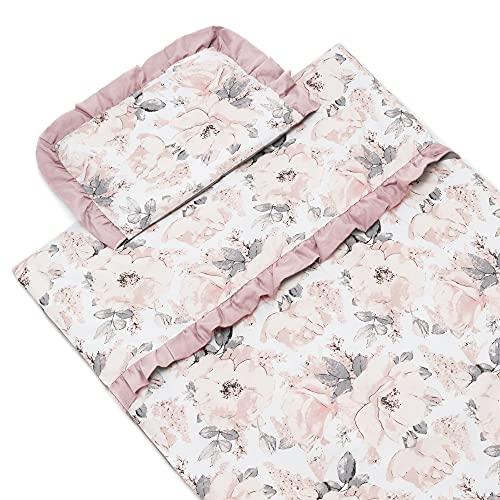 Generic Bettwaren-Sets für Kinder Baby II Mädchen Jungen II Baumwolle 100% II Hochwertiger (Peony/Dunkelrosa, 100x135 / 40x60)