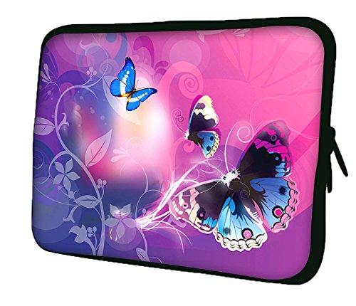 Ektor Hülle / Sleeve / Tasche für 25,4-44,7 cm (10-17,6 Zoll) Laptops / Notebooks, in unterschiedlichen Mustern & Größen erhältlich (Teil 2 von 3) Blaue Schmetterlinge und Kurven 15