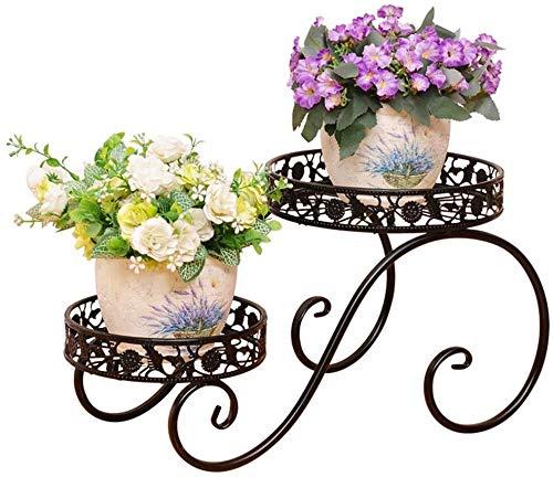 Vasen Schmiedeeisen Flower Stand Pflanze Rahmen Blumenkastenhalterung Innen- und Außen Balkon Wohnzimmer Fenster Pflanze Blume Schwarz Große 47 * 25.3cm