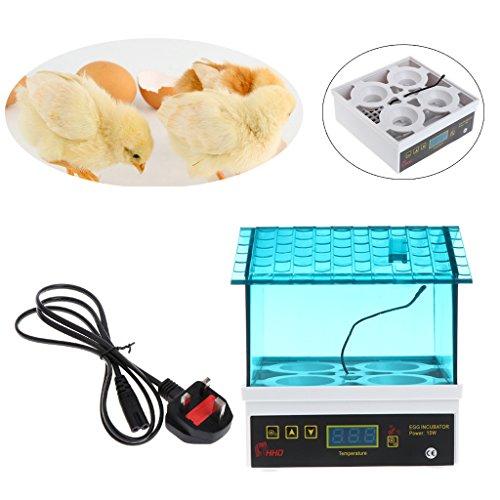 FZMT Automatische 4-Eier-Inkubator Chicken Hatcher Temperature Control