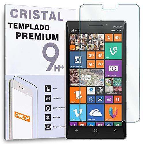 REY Protector de Pantalla para Nokia Lumia 630/635 Cristal Vidrio Templado Premium