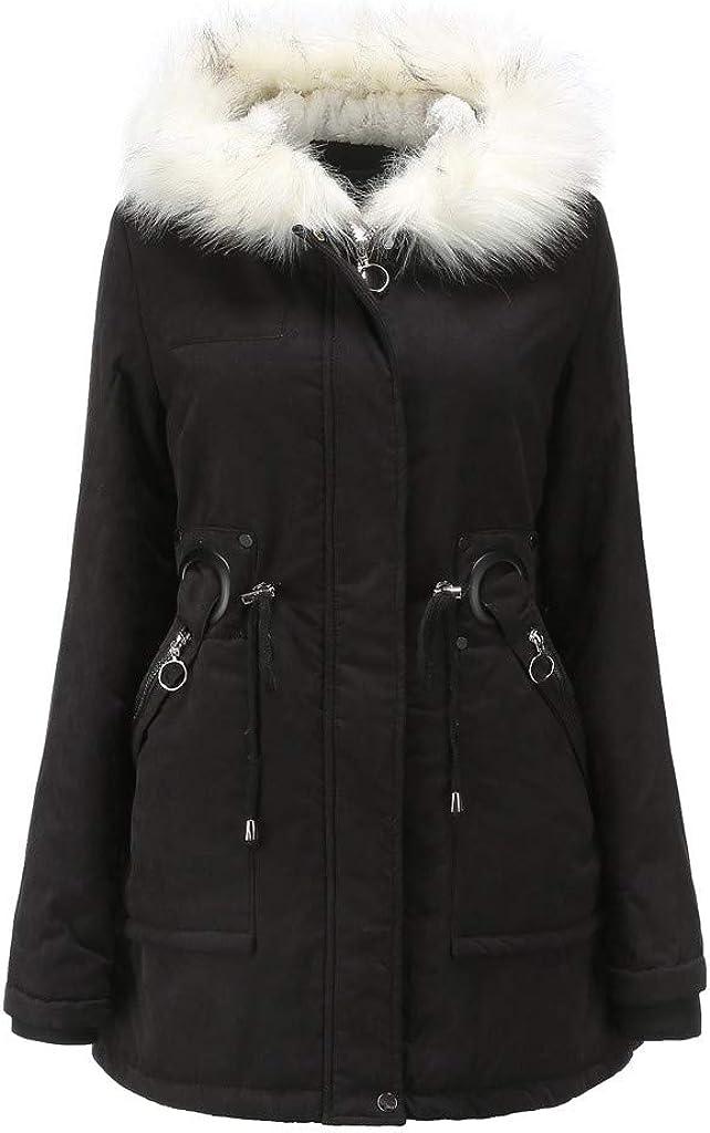 Austin Mall Women Winter Padded Coat Parka with Fur D Finally popular brand Fit Collar Ladies Slim