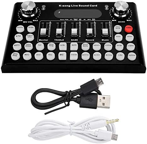 F007 Metal Voice Changer Live Sound Card with Bluetooth for Mobile Phone Computer Pad 18 Special product image