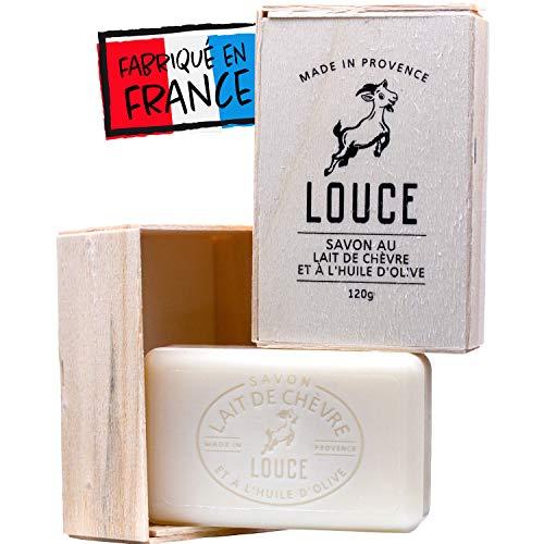 Savon Lait De Chevre Artisanal | Louce | Fabriqué En France | Sans Huile De Palme | 120 gr | Olive Coco | Acné Et Eczema | Visage Et Corps | Zéro déchet