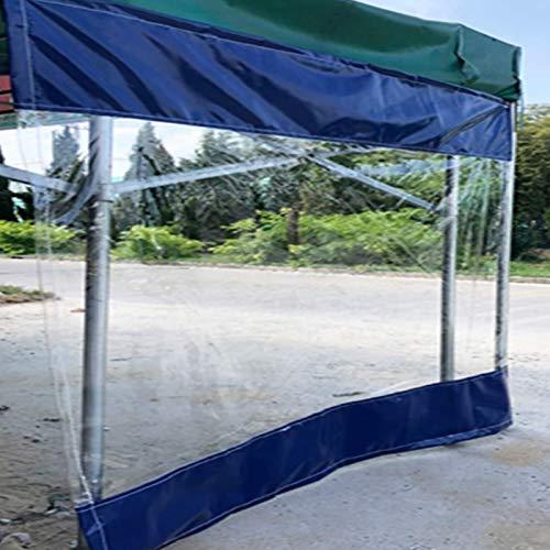 Lona alquitranada Panel Lateral de La Tienda, Lona Transparente, Cortinas de Aislamiento Térmico a Prueba de Viento de PVC de 0,5 mm, Lona Revestida Impermeable, para Garaje, Porche