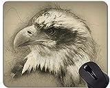 Alfombrilla de ratón Exclusiva Personalizada, Alfombrilla de ratón con Temas de Vuelo Libre Eagle, con Borde Cosido