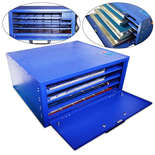 110V 800W 4 Layers Max 25 x 21in Screen Printing Drying Cabinet Screen Press Exposure Warming Temperature Control Plate Making T-Shirt Heating USA Stock