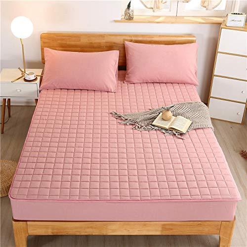haiba Protector de colchón impermeable, ajustable, transpirable, a prueba de manchas, hipoalergénico y no ruidoso, fácil ajuste, tamaño king 200 x 220 cm