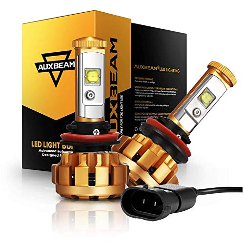 Auxbeam H11 LED Bulbs, H8 H9 H11 Led Conversion Kit 60W 6000lm XHP50 LED Chips Fog Light F-16 Series