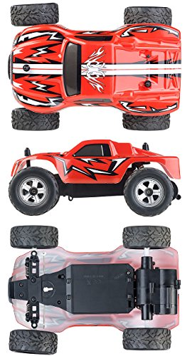 RC Auto kaufen Monstertruck Bild 3: Simulus Monstertruck: Ferngesteuerter Monster-Truck Land Monster, 2,4-GHz-Funk, 15 km/h (RC Car)*