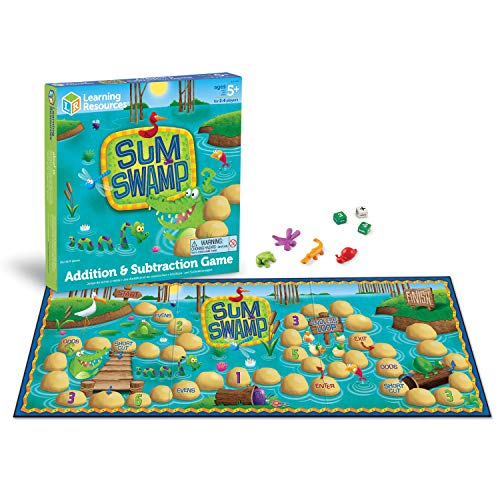 Product Image of the Learning Resources Sum Swamp Game, Homeschool, Addition/Subtraction, Early Math...