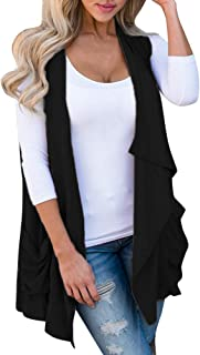 Luckycat Mujer Chaleco Hipster Primavera Otoño Chalecos Outerwear V-Cuello Casual Chic Color Sólido Estilo Moderno Chaleco De Punto Sleeveless
