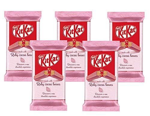 5 x KITKAT Ruby Cocoa Beans Chocolate Bars