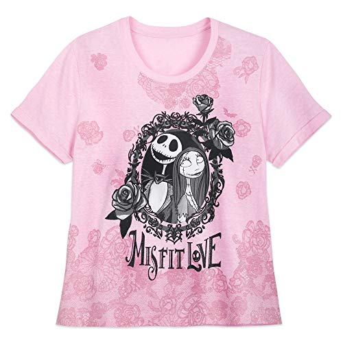 Disney Jack Skellington and Sally T-Shirt for Women – Tim Burton's The Nightmare Before Christmas- Size M