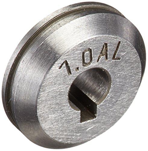 Abicor Binzel 961.0018 - Rollo de aluminio para antorcha de soldadura ROBOWHPP MIG/MAG, ranura en U, diámetro de alambre de 1,0 mm